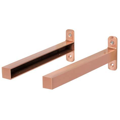 Shelf Brakets by Form Brushed Copper Effect Steel Shelf Brackets D 235mm