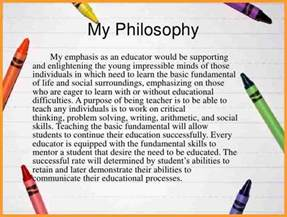 elementary teaching philosophy examples letter format mail