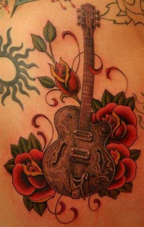romantic tattoo designs guitar tattoos make musical 171 articles