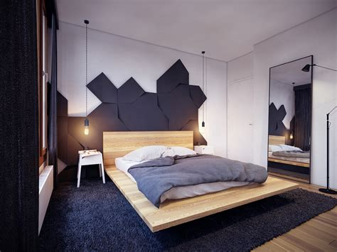 creative headboards for beds colorful modern apartment design uses space to beautiful