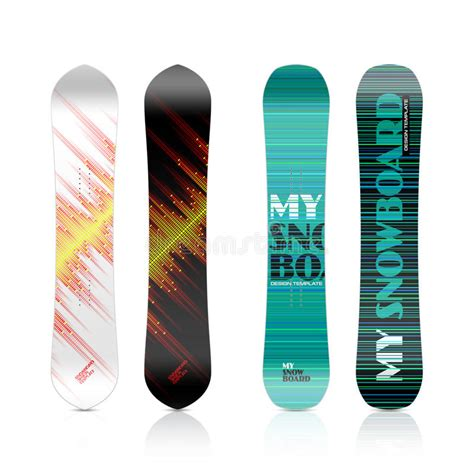 snowboard design template snowboard design stock image image of range season