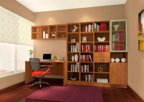 study rooms brown bookcase with purple carpet in study room