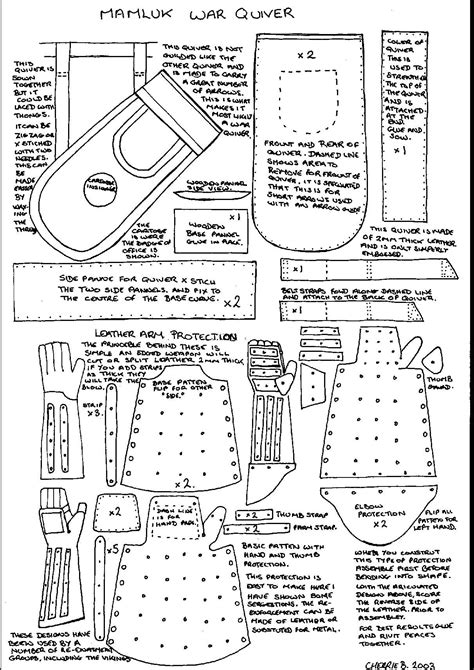 sewing pattern quiver mamluk war quiver plus leather arm protection i ll never