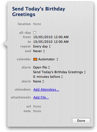 schedule automator workflow how to schedule an automator workflow with ical reality
