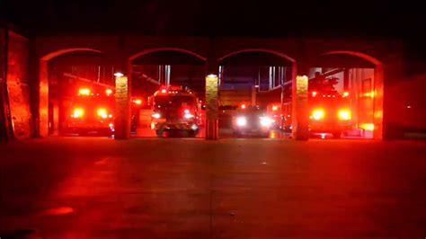 texas fire department puts on festive emergency light show