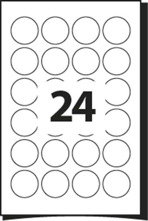 Printing Template For Labels 45 Mm Diameter 24 Round Labels Per A4 Sheet Word Pdf 24 Labels Per Sheet Template Free