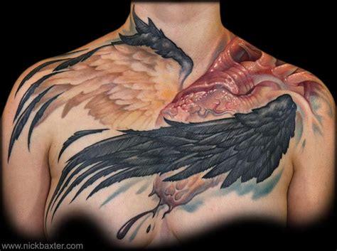 teresa sharpe tattoo nick baxter tattoos color winged