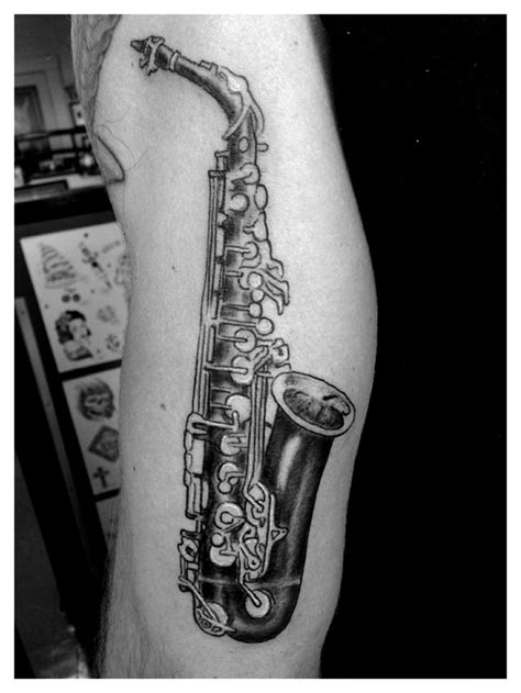 saxophone tattoo 79 best tattoos images on flesh