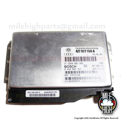 00 01 02 audi a4 s4 abs control module 8d0907389e oem working part ebay 00 04 audi allroad 2 7t transmission control module 156a mile high parts used auto parts