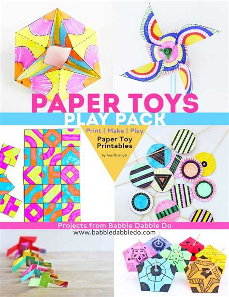 Print And Make Paper Toys - paper toys play pack paper toys and craft