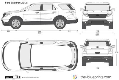 The Blueprints.com Vector Drawing Ford Explorer