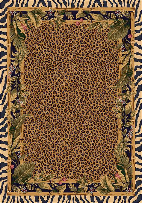 8x11 Milliken Jungle Safari Skins Tropical Zebra Area Rug Jungle Rug