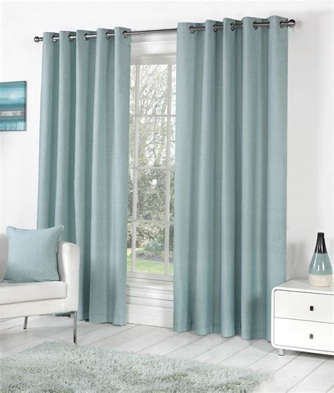 lined ring top curtains duck egg blue 100 cotton fully lined ring top curtains