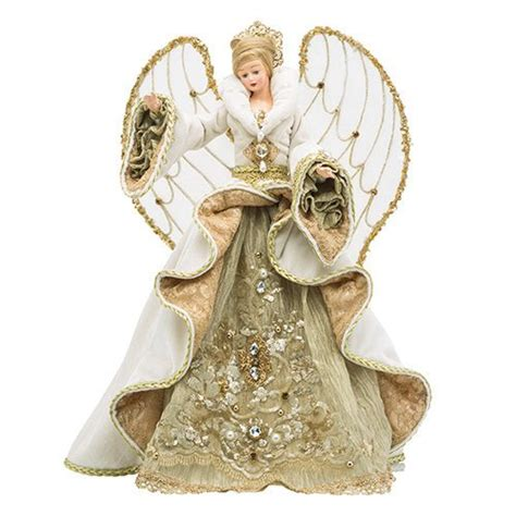 gilded angel christmas tree topper christopher radko