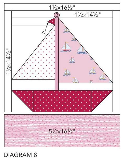 Boat Quilt Block Pattern by Nautical Quilting Sewing Imagination
