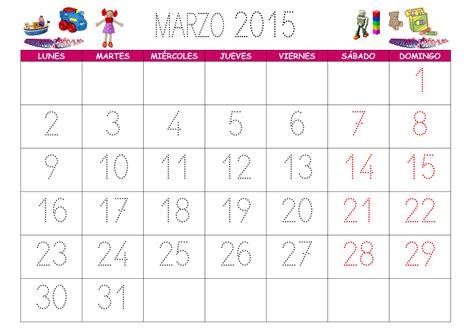 Calendario De Marzo Calendario Marzo 2015