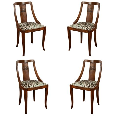 Exquisite Dining Room Furniture exquisite set of four dining chairs for sale at 1stdibs