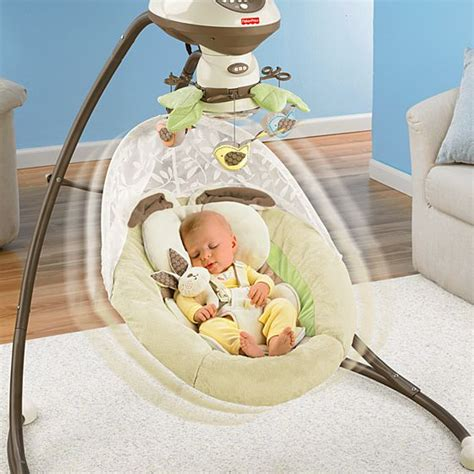 fisher price swing bunny my little snugabunny cradle n swing with smart swing