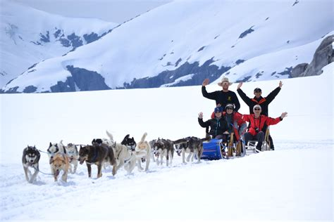 sledding alaska juneau alaska and skagway alaska sledding and helicopter glacier flightseeing