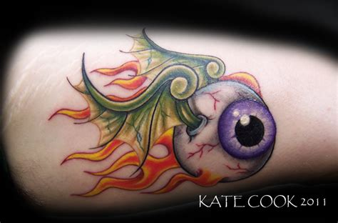 tattoo flying eye flaming flying eyeball of doom by angrybettie on deviantart