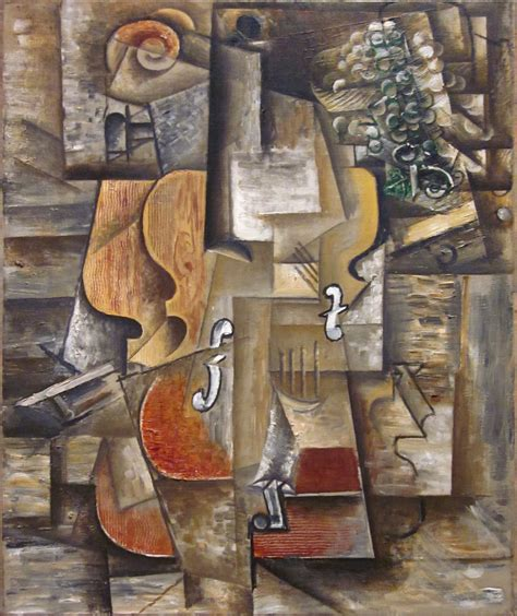 File Pablo Picasso 1912 Violin And Grapes On Canvas