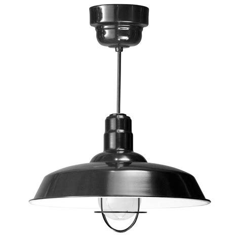 Fluorescent Pendant Light Illumine 1 Light Ceiling Black Fluorescent Pendant Cli 479 The Home Depot