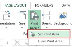 non printable area in excel how to set the print area in excel worksheets