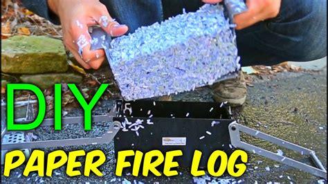 Paper Fireplace Logs by Diy Paper Logs Vidshaker