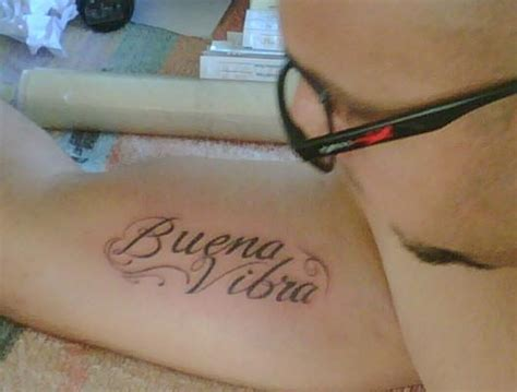 good vibes tattoo my husband s quot buena vibra quot it means quot vibes quot in