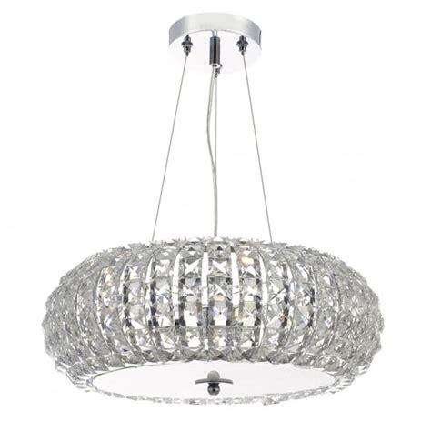 glass bead pendant light contemporary chrome and faceted bead ceiling pendant