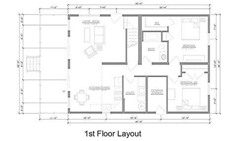 kitchen and living room floor plans east point villas middle bass island