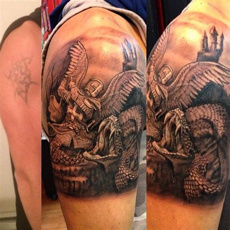 quarter sleeve vs half sleeve tattoo the best detailed tattoo of good vs evil sleeve tattoos