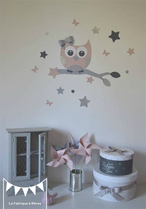 stickers chambre enfant fille stickers d 233 coration chambre enfant fille b 233 b 233 hibou