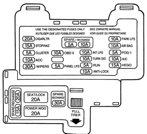 electric power steering 1992 ford festiva interior lighting mercury cougar 7th generation 1989 1997 fuse box diagram auto genius