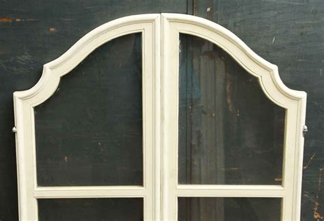 Arched Cabinet Doors Pair Of Wooden Arched Cabinet Doors Olde Things
