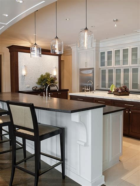 modern kitchen pendant lights bell jar modern pendant lights seen in naperville residence