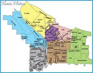 portland metro map travel map vacations
