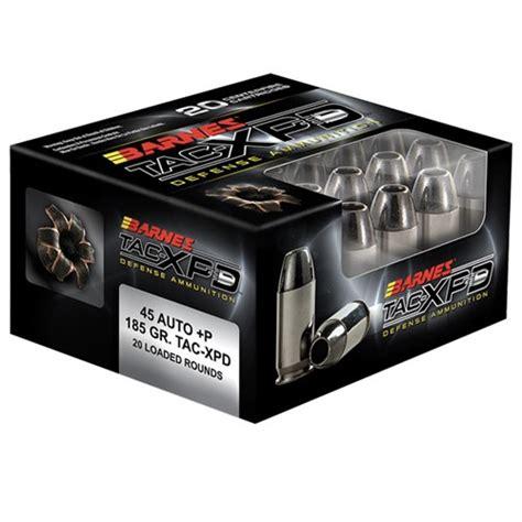 Barnes Tac Xpd 45 Acp Barnes Tac Xpd 9mm P 115gr Tac Xp 20 Bx Reloading Unlimited