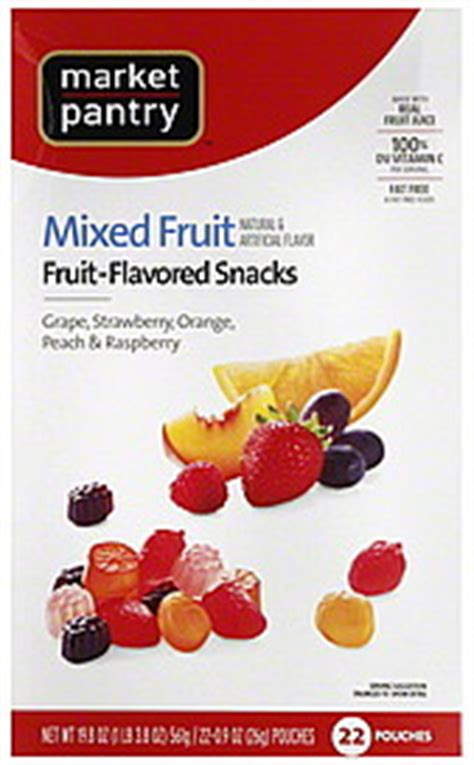 Market Pantry Nutrition by Market Pantry Fruit Flavored Snacks Mixed Fruit 22 0 Ea