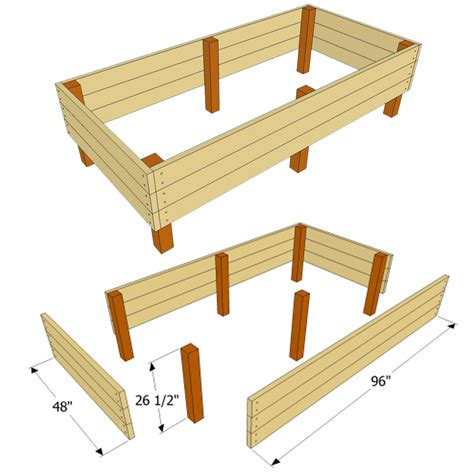 raised bed plans garden bed plans