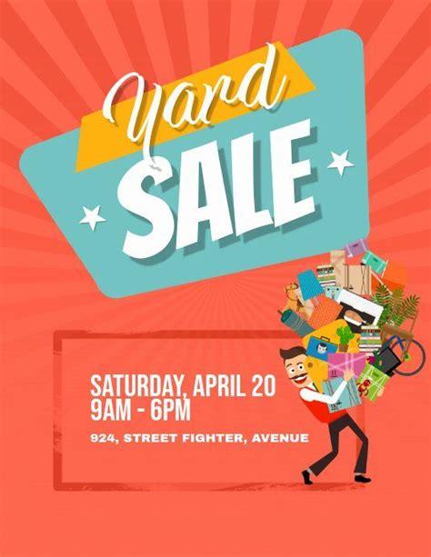 yard sale flyer template unique yard garage sale flyer poster template   sale flyer