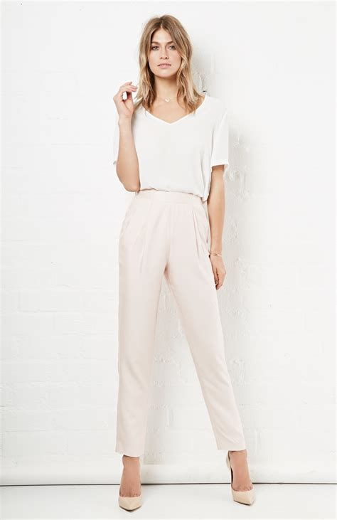 Cameo Cullote Light cameo begin again high waist in light pink dailylook