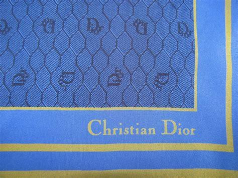 dior pattern name vintage christian dior silk scarf blue logo design green