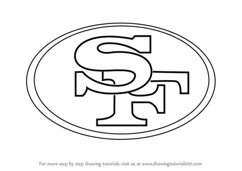 49ers Coloring Page by Learn How To Draw San Francisco 49ers Logo Nfl Step By