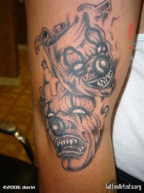 twisted tattoo designs best 25 clown ideas on evil clown