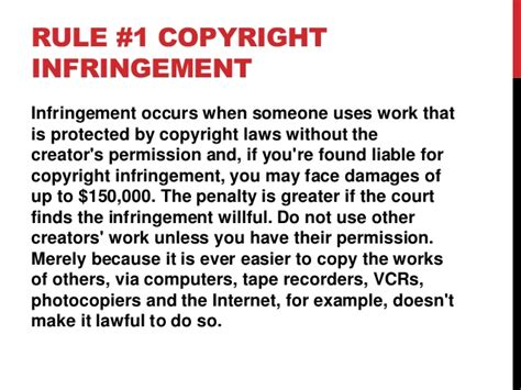 one rule 9 rules of copyright