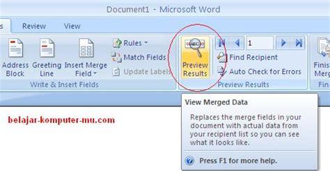 membuat mail merge ms word 2007 cara membuat data mail merge pada microsoft word 2007