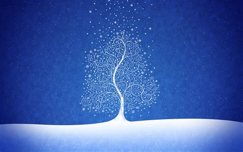 new year snow snow new year tree wallpapers and images wallpapers