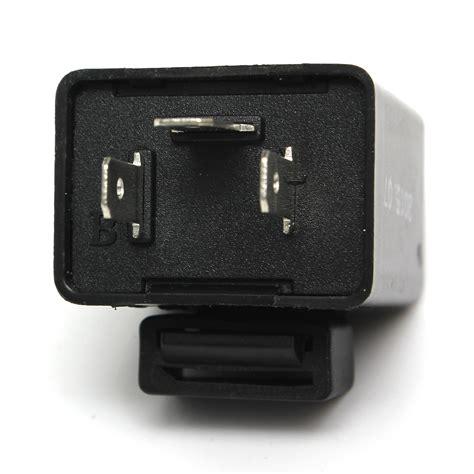 Flasher Led Motor black universal 12v 150w motorcycle motor 3 pin indicator bulb led flasher relay ebay