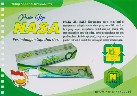 Pasta Gigi Nasa Herbal pasta gigi nasa herbal as shidqy herbal nasa